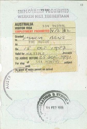 Reisdocument naar Australie